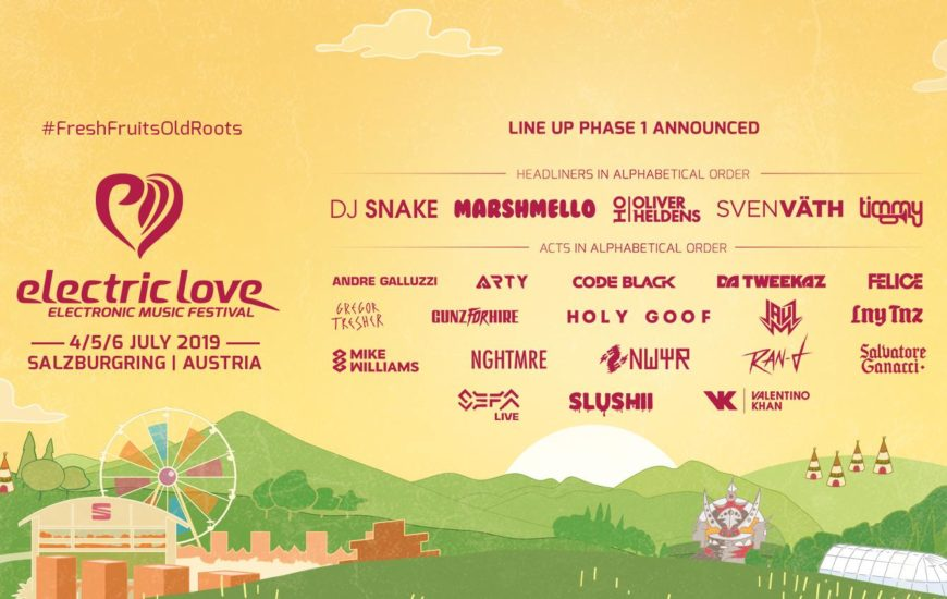 Electric Love Festival Line Up 1