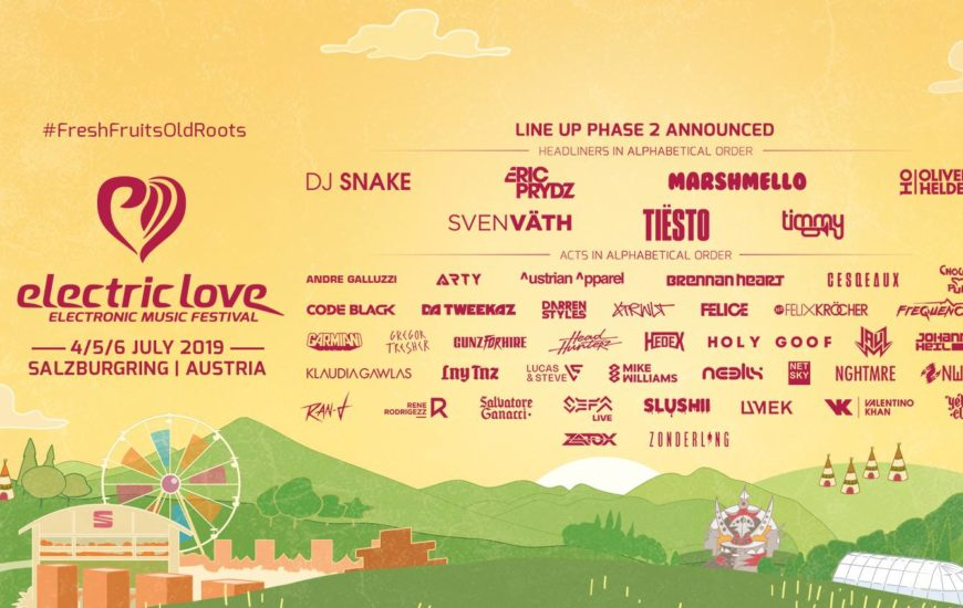 Electric Love Festival Line Up Phase 2